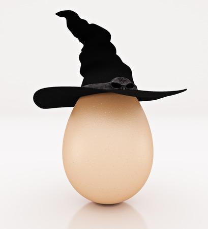 Eggs Halloween day. 3d rendering