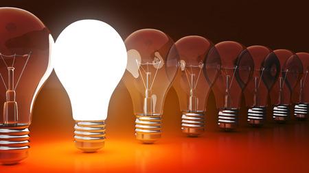 simple light bulbs. 3d rendering Banco de Imagens