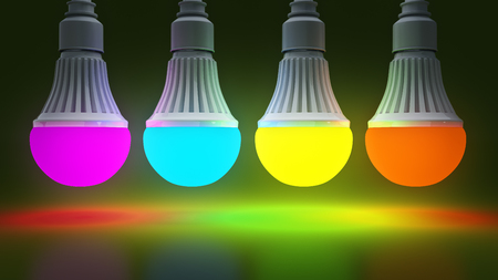 Glowing LED bulb. 3d rendering