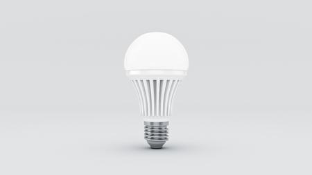 Glowing LED bulb. 3d rendering