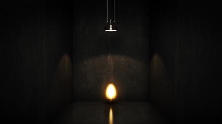 gold egg: gold egg under light. 3d rendering