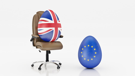 European Union and British. brexit concept. renderring 3d Stock Photo