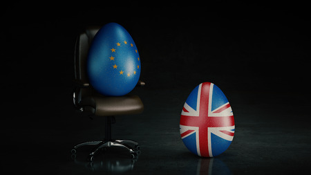 withdrawing: European Union and British. brexit concept. renderring 3d Stock Photo