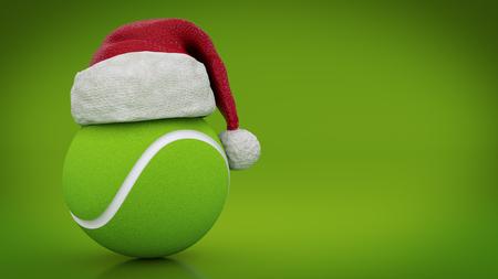Christmas concept. tennis ball. 3d rendering Stock Photo