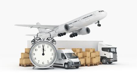 world wide cargo transport concept. 3d rendering 版權商用圖片