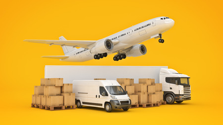 world wide cargo transport concept. 3d rendering Stock Photo