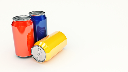 aluminum can isolated. 3d rendering