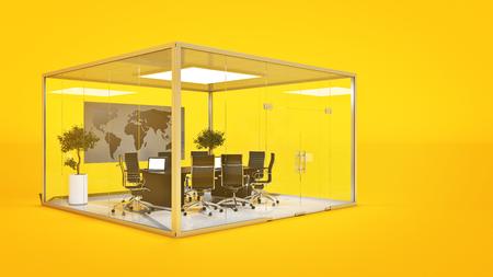 insides: office scene. 3d rendering Stock Photo