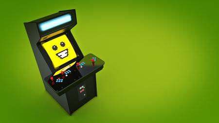 joy pad: Vintage arcade game machine. 3D rendering