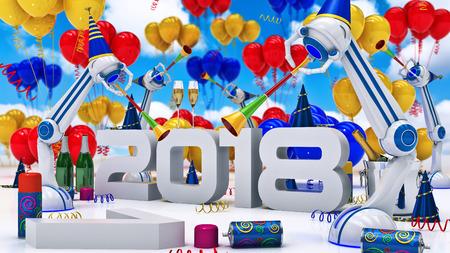 Robot 2018. 3d rendering