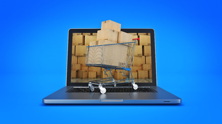 package sending: Shipping and logistics concept. 3d rendering