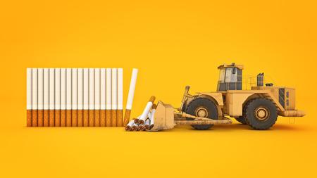 Cigarette concept of death. 3d rendering Stock Photo
