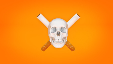abandon: Cigarette concept of death. 3d rendering Stock Photo