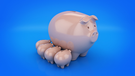 Piggy Bank. 3D rendering