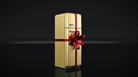 The fridge. concept discounts. 3d rendering