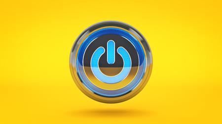 Computer Power Button. 3d rendering