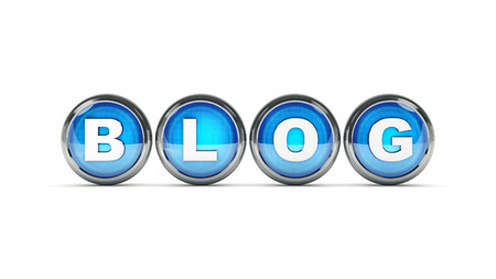 Blog glossy icon. 3d rendering Stock Photo