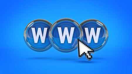 www glossy icon. 3d rendering