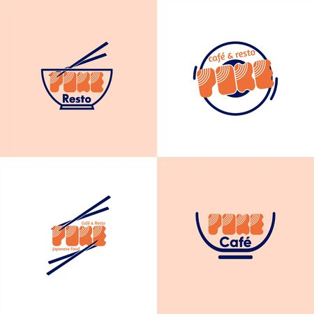 template logotype poke cafe