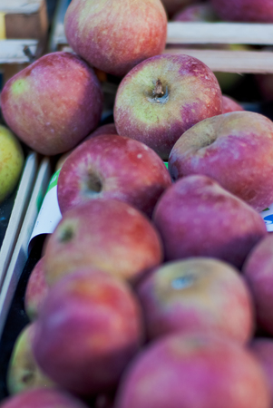 Apples exposed at a local market. S.Ambrogio, Florence Italy Stock Photo
