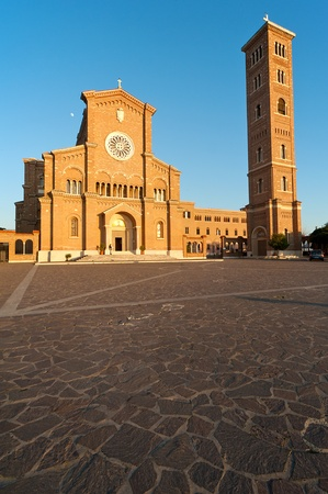 major church in Anzio a famous city south of Rome Stock Photo