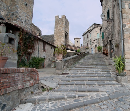 bolsena is a lovely and famous lake and city in middle Italy Stock Photo