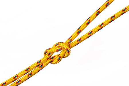 knot on rope isolated on a white background
