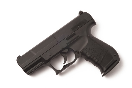 gun or pistol isolated on a white background