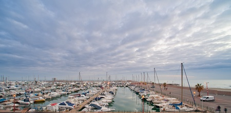view of Nettuno, the dock, historic city south of Rome Stock Photo