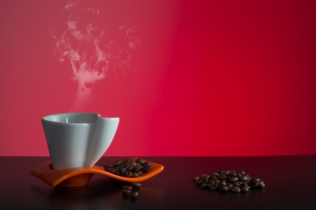cup of hot aromated fragrant coffee