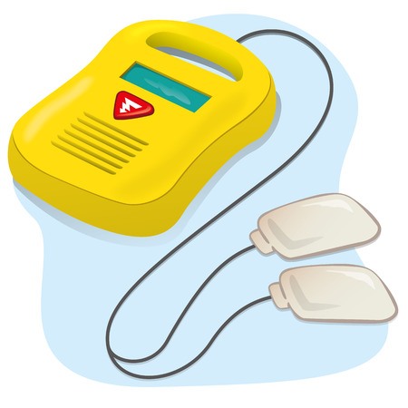 Equipment Illustration medical portable defibrillator