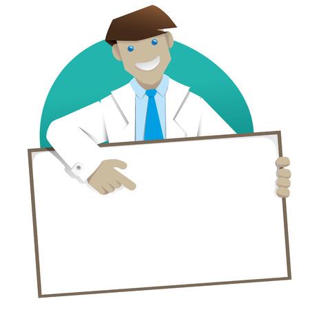 Illustration representing Man coat, doctor or pharmacist message