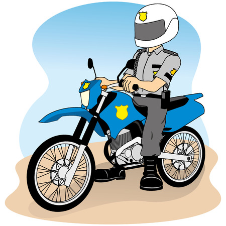 charismatic: Job security on a motorcycle, doing round or patrol, ideal for field training and institutional
