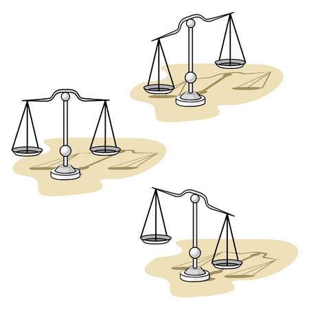 Illustration representing utensil scale object Ilustração