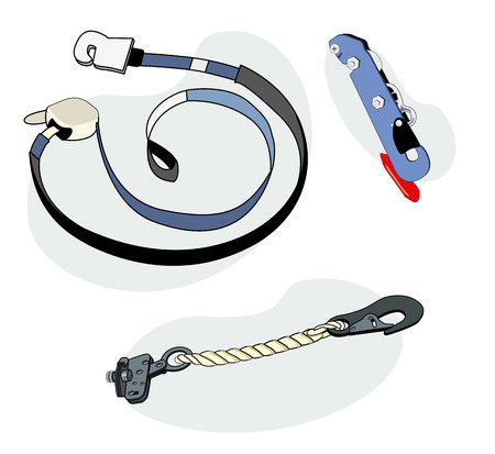 fall protection: Illustration representing a security equipment, security lock Illustration