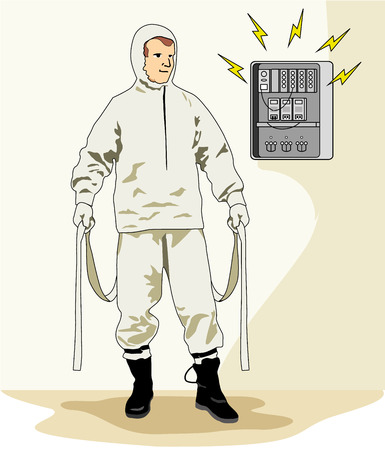 conductive: Illustration representing an insulating clothing safety equipment