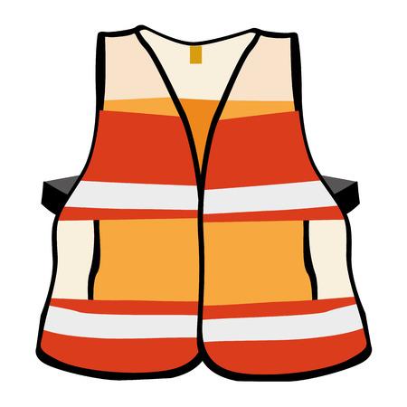 safety vest: Illustration representing a reflective vest safety equipment