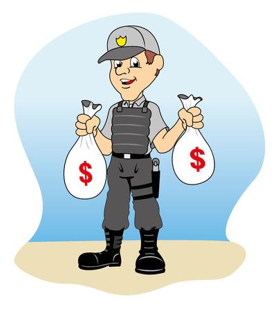coast guard: Dinero de seguridad con sus bolsas de profesionales, ideales para material de formaci�n e institucional
