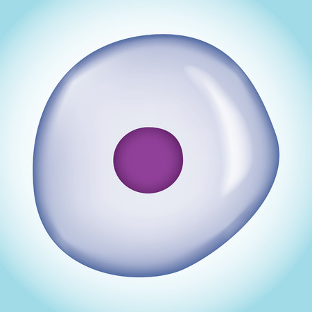 Icon representing an isolated microscopic cell. Ideal for promotional and institutional materials