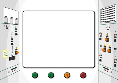 computerization: This illustration Represents the background of a panel or control system. ideal for institutional and educational materials