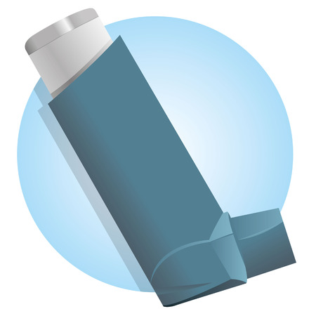 inhaler: Illustration Drug inhaler for asthma and shortness and air Illustration