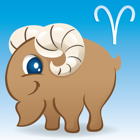 Illustration icon is astrology sign aries. Ideal for esoteric stuff and institutional