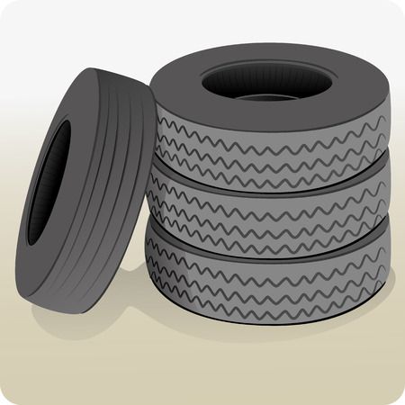 institutional: Object illustration a lot of tires. Ideal for informational and institutional