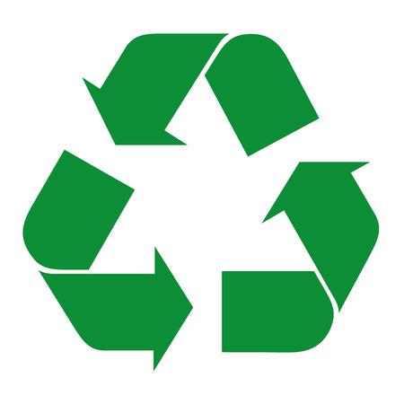 respeto: Ilustración icono de símbolo de reciclaje. Ideal para catálogos informativos y guías de reciclaje. Vectores