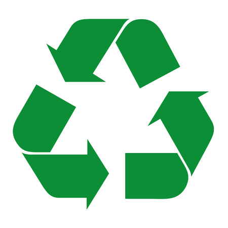 Illustration icon recycling symbol. Ideal for informative catalogs and recycling guides. Illustration
