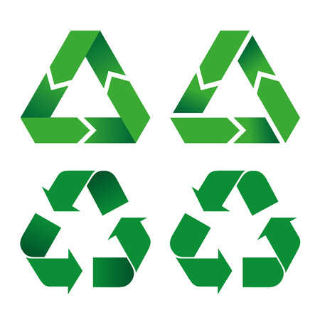 guides: Illustration icon recycling symbol. Ideal for informative catalogs and recycling guides. Illustration