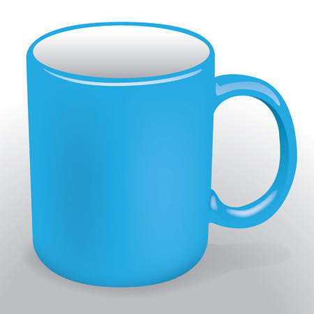 institutional: Illustration representing an object or utensil porcelain mug. Ideal for product catalog and institutional