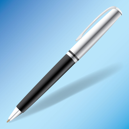 iberian: Illustration representing an object or utensil ballpoint pen. Ideal for product catalog and institutional Illustration