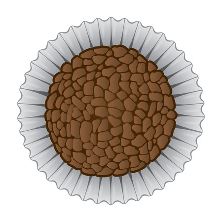 institutional: Illustration of sweet Brazilian Brigadier food. Ideal for informational culinary and institutional Illustration
