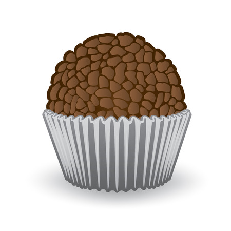 informational: Illustration of sweet Brazilian Brigadier food. Ideal for informational culinary and institutional Illustration